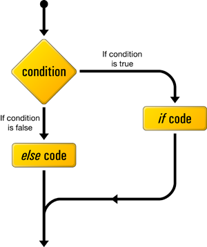 A flow chart demonstrating the use of conditional statements